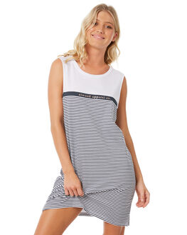 NAVY STRIPE WOMENS CLOTHING ELWOOD DRESSES - W83715-JF6