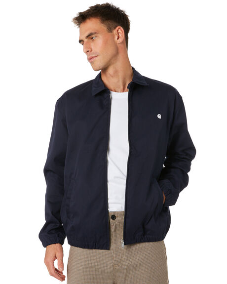 DARK NAVY WHITE MENS CLOTHING CARHARTT JACKETS - I0259371C