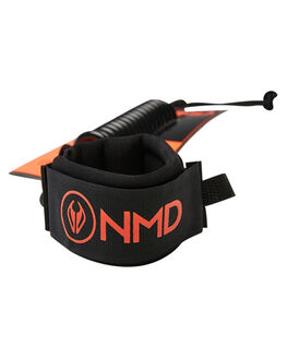 BLACK FLURO RED BOARDSPORTS SURF NMD BODYBOARDS LEASHES - N19L1BLKFR