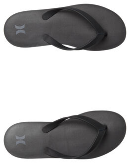 BLACK MENS FOOTWEAR HURLEY THONGS - AR5506010