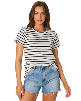 NATURAL BLACK STP WOMENS CLOTHING AS COLOUR TEES - 4048NTBLK