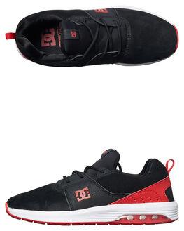 BLACK ATHLETIC RED MENS FOOTWEAR DC SHOES SNEAKERS - ADYS200035BAH