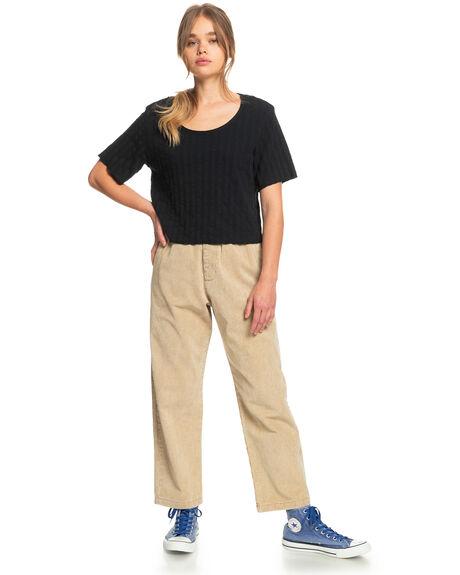 BLACK WOMENS CLOTHING QUIKSILVER TEES - EQWKT03089-KVJ0