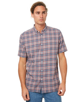 PINK PLAID MENS CLOTHING BARNEY COOLS SHIRTS - 302-MC3PPLD