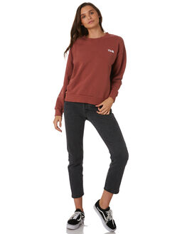 FADED RED WOMENS CLOTHING THRILLS JUMPERS - WTW9-208FHFRED