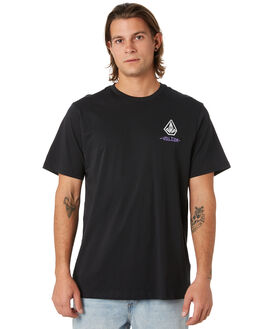 BLACK MENS CLOTHING VOLCOM TEES - A5001919BLK