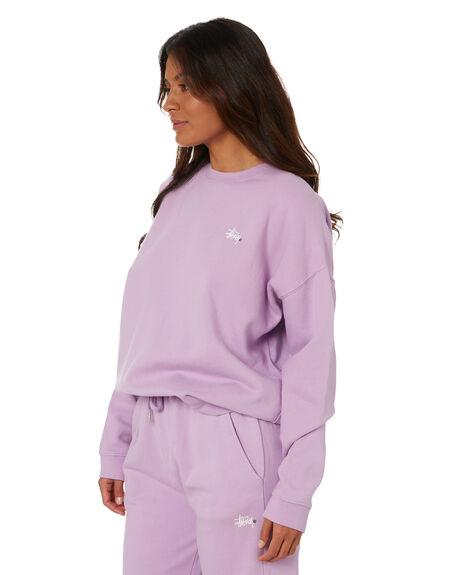 LILAC WOMENS CLOTHING STUSSY JUMPERS - ST1M0152LIL