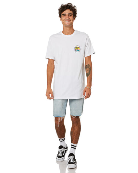 WHITE MENS CLOTHING VANS TEES - VNA54CNWHTWHT
