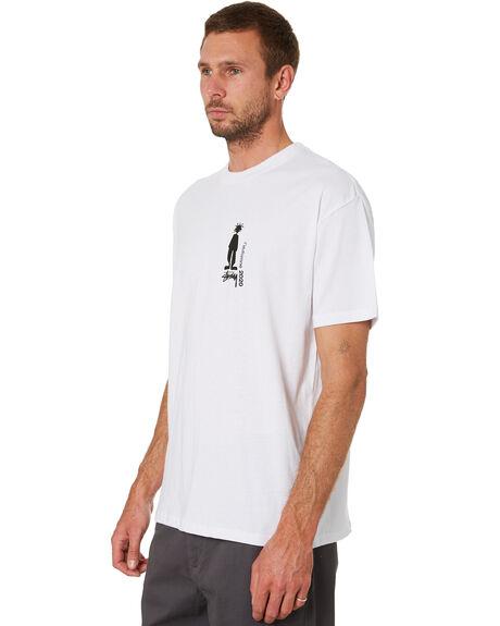 WHITE MENS CLOTHING STUSSY TEES - ST016112WHITE