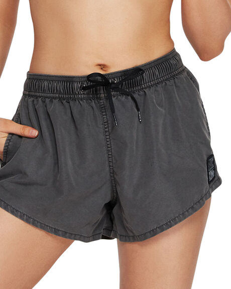 BLACK WOMENS CLOTHING BILLABONG SHORTS - BB-6591363-BLK