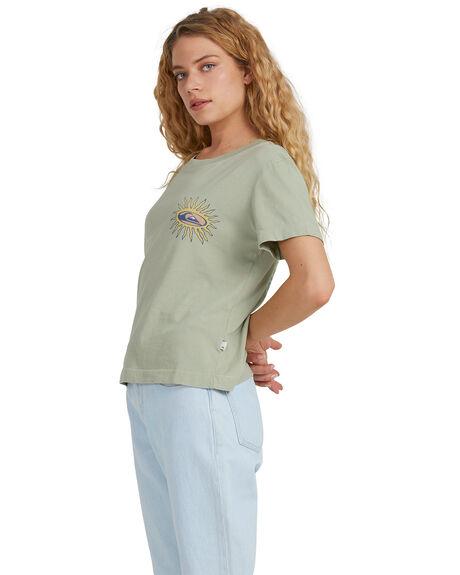 PISTACHIO WOMENS CLOTHING QUIKSILVER TEES - EQWZT03057-GFM0