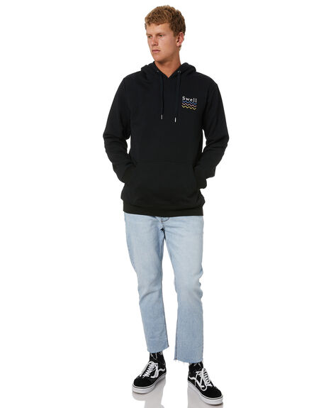 BLACK MENS CLOTHING SWELL JUMPERS - S5203442BLK