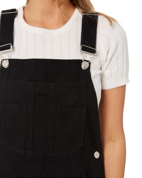 VINTAGE BLACK WOMENS CLOTHING MISFIT PLAYSUITS + OVERALLS - MT115601VBLK