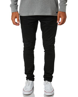 BLACK MENS CLOTHING ACADEMY BRAND PANTS - 19W104BLK
