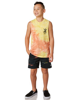 BLACK COMBO KIDS BOYS VOLCOM SHORTS - C1011805BLC