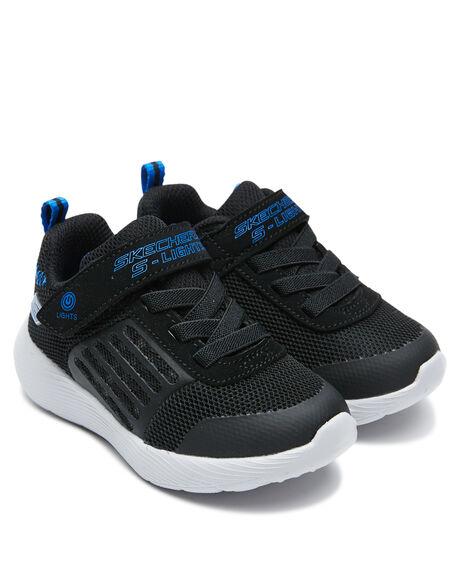 BLACK KIDS BOYS SKECHERS FOOTWEAR - 90740NBKRY