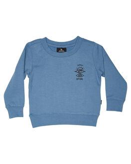 DENIM BLUE KIDS BOYS RIP CURL JUMPERS + JACKETS - OFEAX34983