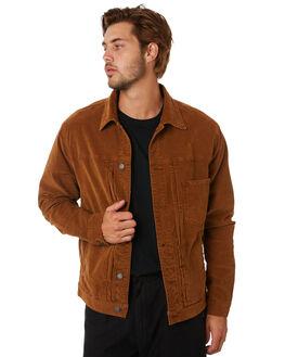 MUSTANG BROWN MENS CLOTHING THRILLS JACKETS - TA20-209CMUST