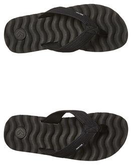 BLACK MICRO MENS FOOTWEAR KUSTOM THONGS - 4992217KBLKM