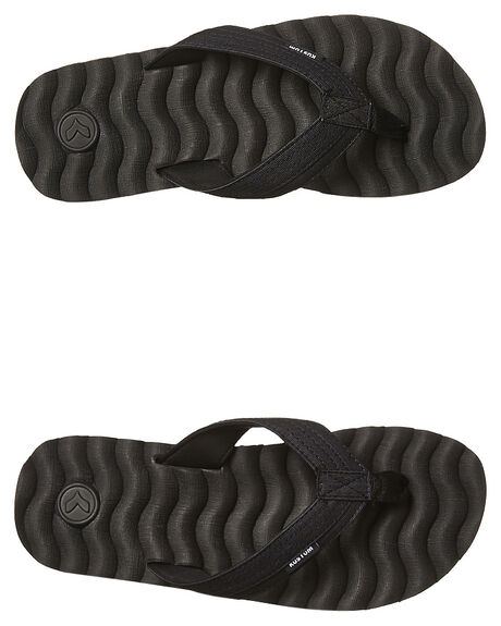 BLACK MICRO MENS FOOTWEAR KUSTOM THONGS - 4992217KBLKM