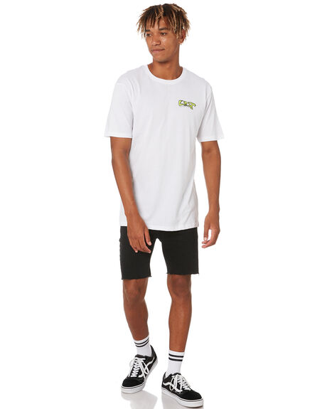 WHITE MENS CLOTHING LOST TEES - LTE-20405-WHT
