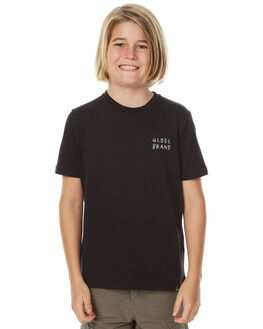 BLACK KIDS BOYS GLOBE TEES - GB41710002BLK