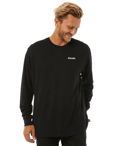 BLACK MENS CLOTHING AFENDS TEES - M181060BLK