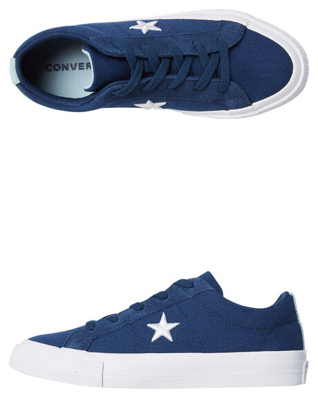 NAVY KIDS BOYS CONVERSE SNEAKERS - 360598NVY