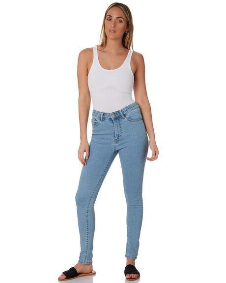 LIGHT BLUE STONE WOMENS CLOTHING DR DENIM JEANS - 1830102I31LTSTN