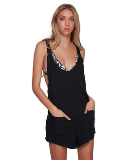 OFF BLACK WOMENS CLOTHING BILLABONG PLAYSUITS + OVERALLS - BB-6595508M-OFB