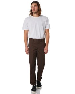 CHOCOLATE BROWN MENS CLOTHING DICKIES PANTS - WP873CBRN