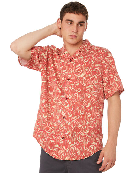 FADED RED CLOUDBREAK OUTLET MENS OUTERKNOWN SHIRTS - 131096FRC