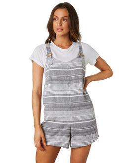 BLACK STRIPE WOMENS CLOTHING THE HIDDEN WAY PLAYSUITS + OVERALLS - H8174448BLKST