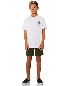 WHITE KIDS BOYS SANTA CRUZ TOPS - SC-YTC9224WHT