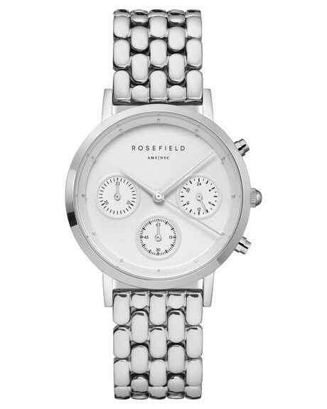 WHITE SILVER WOMENS ACCESSORIES ROSEFIELD WATCHES - NWG-N92WHTS