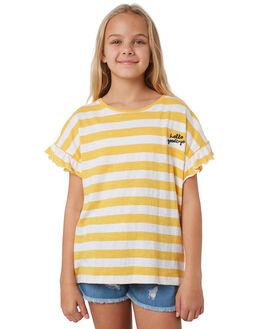 SUNFLOWER WHT STRIPE KIDS GIRLS EVES SISTER TOPS - 9540036SUN