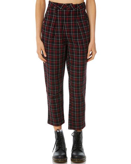 RED TARTAN WOMENS CLOTHING THRILLS PANTS - WTW8-403HRED