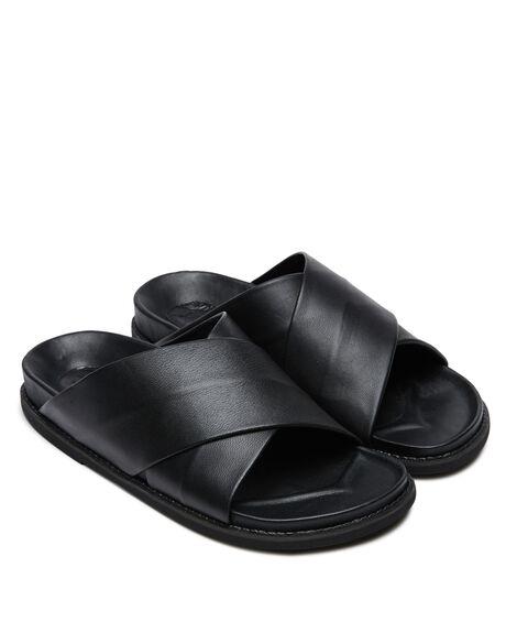 BLACK BLACK WOMENS FOOTWEAR JAMES SMITH SLIDES - 11671355BKBK