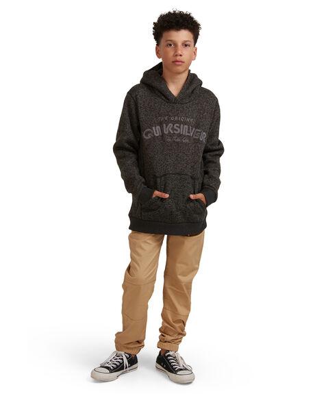 DARK GREY HEATHER KIDS BOYS QUIKSILVER JUMPERS + JACKETS - EQBFT03681-KRPH