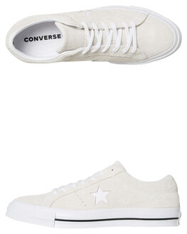 WHITE WHITE MENS FOOTWEAR CONVERSE SKATE SHOES - SS161577WHIM