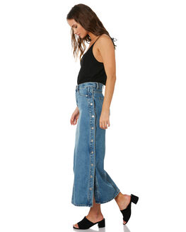 PRESS THE BUTTON WOMENS CLOTHING DR DENIM SKIRTS - 1910116-H90