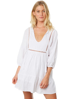 WHITE WOMENS CLOTHING RUSTY DRESSES - DRL0956WHT