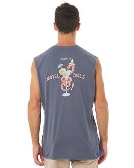 VINTAGE NAVY MENS CLOTHING BARNEY COOLS SINGLETS - 154-MC4VNVY