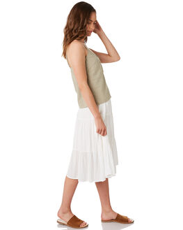 WHITE WOMENS CLOTHING RHYTHM SKIRTS - JAN20W-SK01WHT