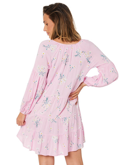 PINK FLORAL PRINT WOMENS CLOTHING SWELL DRESSES - S8211452_PKFPT
