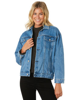 ESPRIT BLUE WOMENS CLOTHING ROLLAS JACKETS - 12944-4349