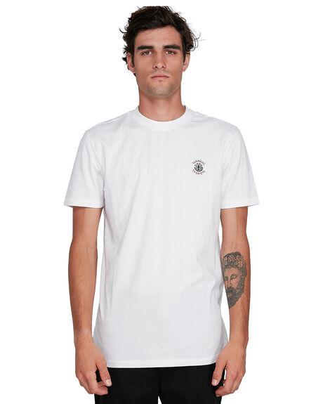 WHITE MENS CLOTHING ELEMENT TEES - EL-102018-WHT