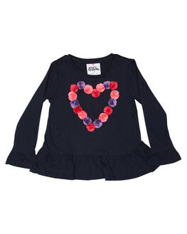 NAVY KIDS GIRLS EVES SISTER TOPS - 8034017NAVY