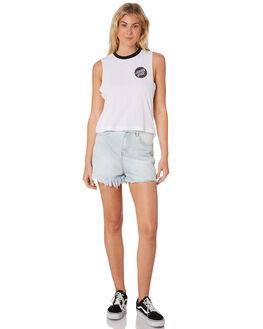 WHITE WOMENS CLOTHING SANTA CRUZ SINGLETS - SC-WTC7375WHI