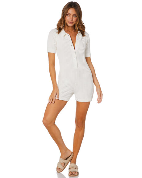 WHITE WOMENS CLOTHING RUE STIIC PLAYSUITS + OVERALLS - SW-20-K-16-W-C_WHT